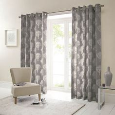 Grey Curtains, Curtains With Rings, Seat Pads, At Home Store, Leaf Design, Seat Cushions, Modern Design, Household, Contemporary