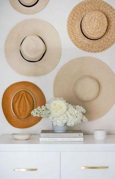 Extraordinary hat storage organizer just on home like art design Home Bedroom, Bedroom Decor, Wall Decor, Bedrooms, Bedroom Ideas, Bedroom Interiors, Wall Art, Master Bedroom, Hanging Hats