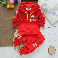 2015 NEW Design Spring Autumn children Brand set Fashion baby boy clothes cotton Hooded shirts+pants tracksuit Fit 0-2Y