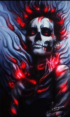 Skeleton Girl Smudge by EysaaGFX.