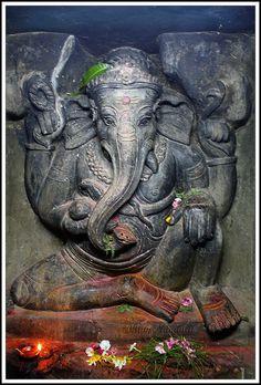 Ganesha @ Undavalli Caves.