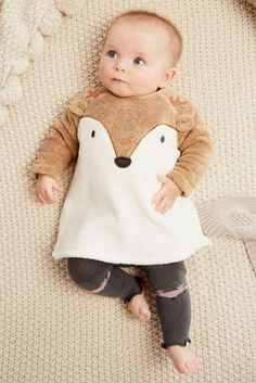 Buy Ecru Fleece Character Tunic And Footless Tights Set (0mths-2yrs) online today at Next: United States of America