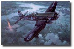 Night Victory by Roy Grinnell (F4U-5N)