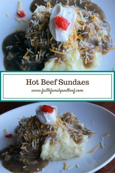 Hot Beef Sundaes