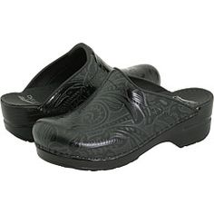 Hmm these are nice too! 'Black tooled' Dansko Sonja's (from zappos.com) $120