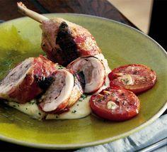 Chicken ballottines with sage & pancetta   BBC Good Food