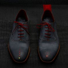 These shoes by British designer Dominic Wilcox have LEDs in the toes that will guide you home no matter where you are.