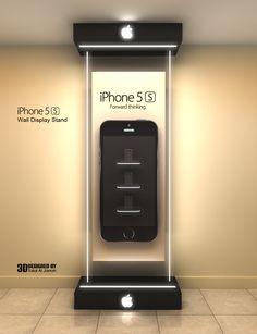 iPhone - Wall Display Stand by Talal Al Jarrah, via Behance