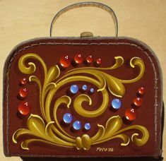 Craft Projects, Projects To Try, Craft Ideas, Sign Writing, Wooden Case, Arte Popular, Tole Painting, Kirigami, Tango