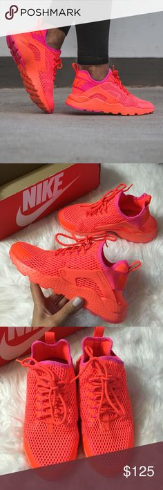 Women's Nike Air Huarache Run Ultra Breathe Brand new with the box but no lid. Crimson color Nike Shoes Athletic Shoes