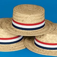 64dff32ffbd Patriotic Skimmer Hats (12pc)