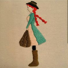 Anne Shirley #embroidery #handembroidery #needlework#вышивка #자수 #手仕事 #crossstitch #sewing #contemporaryembroidery #craft #couture #bordado #hoopart #fiberart #textileart #modernembroidery #embroideryartist #brooch #embroideryinstaguild #craftsposure #ohwowyes #stitchersofinstagram #initaly #letters #handstitched #flowers #pineapple #maker #dmcthreads #embroideryhoop