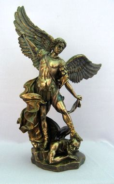 """Saint Michael the Protector With Sword Statue 14.5"""" – Beattitudes Religious Gifts"""
