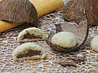 BISCOTTI AL COCCO E NUTELLA con nutella che rimane cremosa