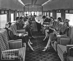 The luxury train's story began with George Pullman, the Brooklyn-born entrepreneur who helped reengineer Chicago's sewer system. Pullman struck upon the idea of adding sleeping cars to trains after an uncomfortable night trying to catch Zs in the seat of a train in New York state. Here: Passengers relax on an American saloon car in the 1940s.