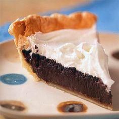 Chocolate Fudge Pie Recipe | MyRecipes.com Mobile