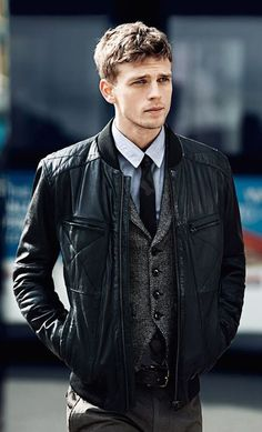 Waistcoat and leather jacket