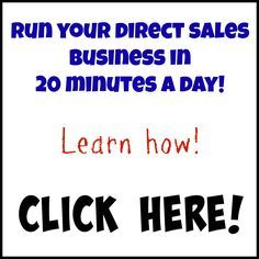 Run your direct sales business in 20 minutes a day using a power hour system!