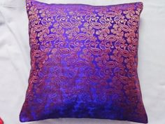 free shipping 40 cm Paisley purple brocade by cottagecraftonline, $12.00