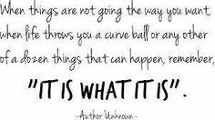 It is...