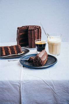 chocolate espresso birthday cake.