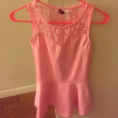 Pink shirt Worn once in good condition H&M Tops Blouses
