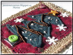 Passion et Couture: Let's create a fabric postcard for Christmas!!! Free Tutorial