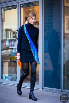 London Fashion Week FW 2016 Street Style: Veronika Heilbrunner