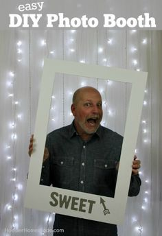 Learn how to make your own EASY Photo Booth for holidays, weddings, showers, birthdays and more! It's easy and inexpensive too! Pin to your Party Board!