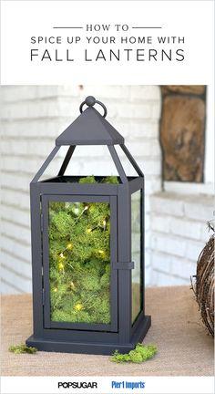 Use lanterns as the base for pretty Fall decor DIYs.