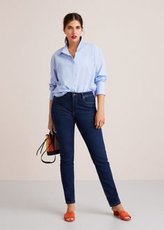 Women's Plus Size Slim-Fit Valentin Jeans Casual Chic Outfits, Casual Chic Style, Casual T Shirts, Boyfriend Jeans, Mom Jeans, Jeans And Hoodie, Yoga Pants Outfit, Outfit Jeans, Womens Fashion Online