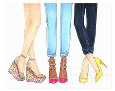 Summer Kicks Art Print – Joanna Baker - Available from $20 on http://shop.joanna-baker.com =)