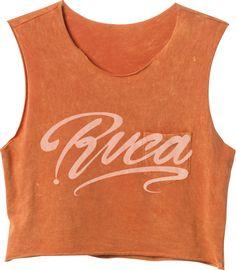 Ink Script Cropped T-Shirt | RVCA
