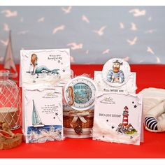 Creative Stamping 43 comes complete with a stunning Sea View collection including fabulous designs from Sheena Douglass! Nautical Cards, Nautical Theme, Sea Theme, Diy And Crafts, Paper Crafts, Beach Cards, Hand Stamped Cards, Cardmaking, Birthday Cards
