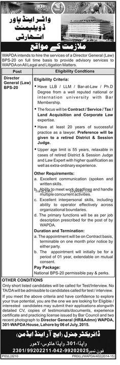 WAPDA JOBS,Water and Power Development Authority Career Opportunities