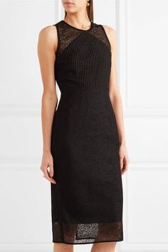 Diane von Furstenberg - Paneled Lace Dress - Black - US14