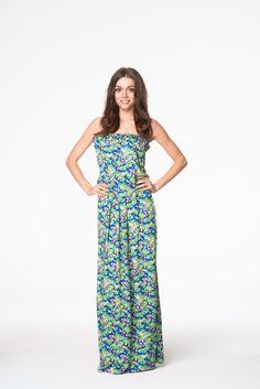 Prześliczna wiosenna sukienka maxi w kwiaty Summer Time, Jumpsuit, Etsy, Collection, Nice, Dresses, Women, Fashion, Overalls