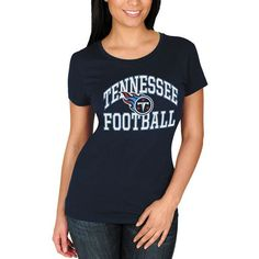 Tennessee Titans Majestic Women's Franchise Fit T-Shirt - Navy - $24.99