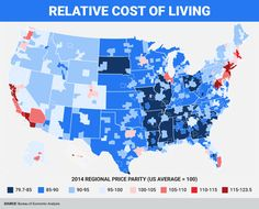 This Map Shows The Most And Least Expensive Places To Live In America Infographic
