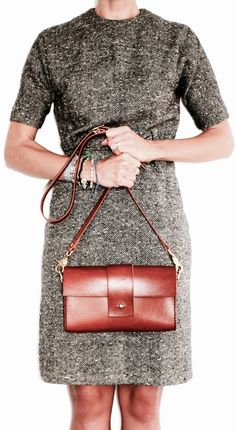 Crossbody Bag Leather Boho Purse Bag Small Bag by EcoCollectiveAus