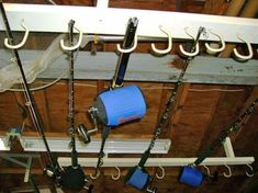 Here's an easy tip to help you build an overhead rod holder to store all of your fishing rods.