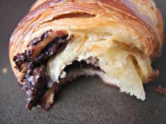 Croissants and Pains au Chocolat by milkandhoney: Oh yum! #Croissant #Chocolate