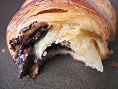 Croissants and Pains au Chocolat by milkandhoney: Oh yum! #Croissant #Chocolate