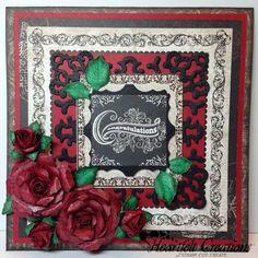 #card #cards #roses Heartfelt Creations | Red Floret Congrats