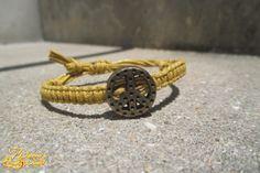 #bracelet #peace #hippie #yellow