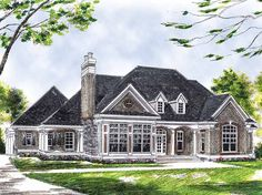 Cottage House Plan with 2314 Square Feet and 3 Bedrooms(s) from Dream Home Source | House Plan Code DHSW17377
