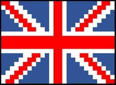 British Flag Placemat C2C Graph & Written Word Chart