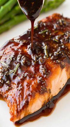 balsamic glazed salmon                                                       …