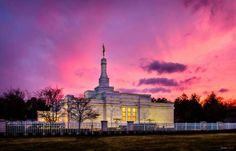 Scott Jarvie is on a mission to capture and compile pictures of every LDS temple in the United States. The Detroit Michigan Temple is pictured here. (,)