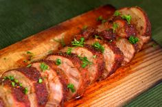 Full of Flavor Spice-Rubbed Cedar Plank Pork Tenderloin. This is a great dish for a nice Sunday dinner or holiday meal. Traeger Bbq, Traeger Recipes, Grilling Recipes, Pork Recipes, Traeger Grills, Yummy Recipes, Recipies, Green Egg Recipes, Pellet Grill Recipes